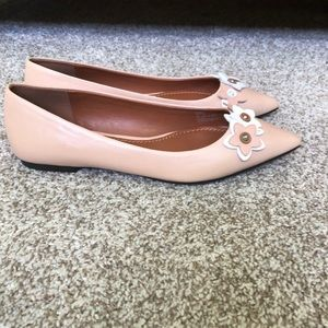 Coach Nude Wildflower Pointed Flats